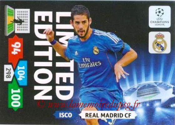 2013-14 - Adrenalyn XL champions League N° LE46 - ISCO (Real Madrid CF) (Limited Edition)