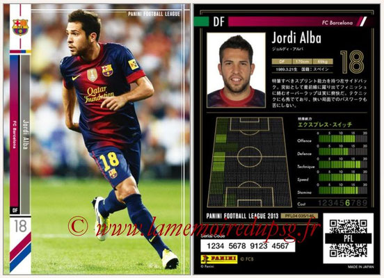 Panini Football League 2013 - PFL04 - N° 035 - Jordi ALBA (FC Barcelone)