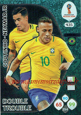 2018 - Panini FIFA World Cup Russia Adrenalyn XL - N° 435 - Philippe COUTINHO + NEYMAR Jr. (Bresil) (Double Trouble)
