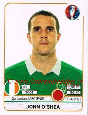 Panini Euro 2016 Stickers - N° 519 - John O'SHEA (République d'Irlande)