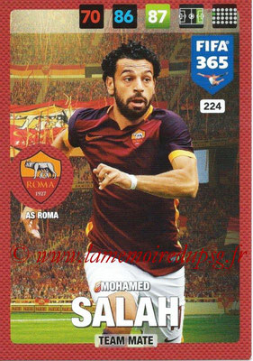 2016-17 - Panini Adrenalyn XL FIFA 365 - N° 224 - Mohamed SALAH (AS Roma)
