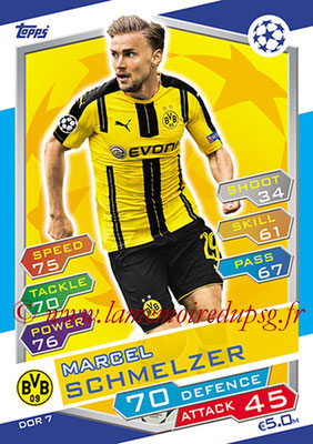 2016-17 - Topps UEFA Champions League Match Attax - N° DOR7 - Marcel SCHMELZER (Borussia Dortmund)