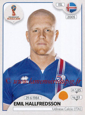 2018 - Panini FIFA World Cup Russia Stickers - N° 303 - Emil HALLFREDSSON (Islande)