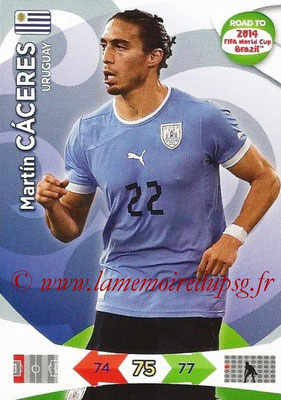 2014 - Panini Road to FIFA World Cup Brazil Adrenalyn XL - N° 186 - Martin CACERES (Uruguay)