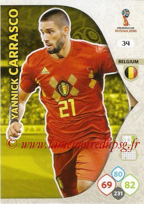 2018 - Panini FIFA World Cup Russia Adrenalyn XL - N° 034 - Yannick CARRASCO (Belgique)