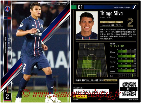 Panini Football League 2013 - PFL01 - N° 090 - Thiago Silva ( Paris Saint-Germain )