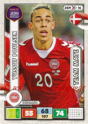 2018 - Panini Road to FIFA World Cup Russia Adrenalyn XL - N° DEN16 - Yussuf POULSEN (Danemark)