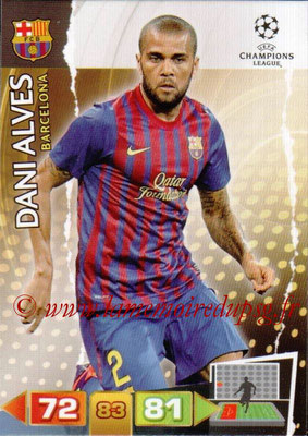 2011-12 - Panini Champions League Cards - N° 025 - Dani ALVES (FC Barcelone)