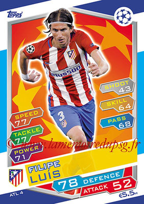 2016-17 - Topps UEFA Champions League Match Attax - N° ATL4 - Filipe LUIS (Club Atletico de Madrid)
