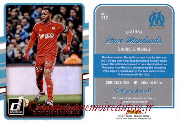 2016 - Panini Donruss Cards - N° 112 - Steve MANDANDA (Olympique de Marseille)