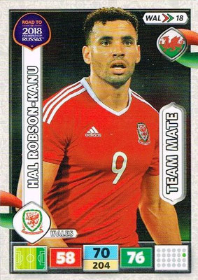 2018 - Panini Road to FIFA World Cup Russia Adrenalyn XL - N° WAL18 - Hal ROBSON-KANU (Pays de Galles)