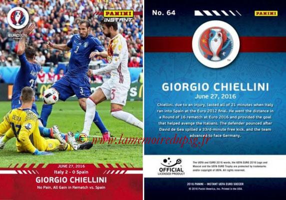 Panini Instant Euro 2016 - N° 064 - Giorgio CHIELLINI