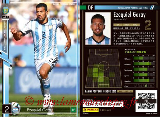 Panini Football League 2015 - PFL13 - N° 082 - Ezequiel GARAY (Argentine)