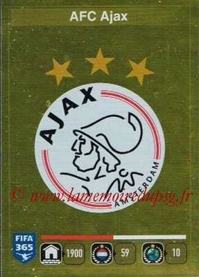 2015-16 - Panini FIFA 365 Stickers - N° 641- Ecusson AFC Ajax