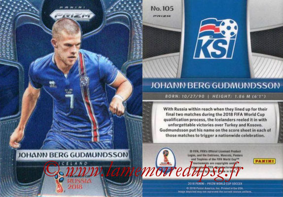 2018 - Panini Prizm FIFA World Cup Russia - N° 105 - Johann Berg GUDMUNDSSON (Islande)