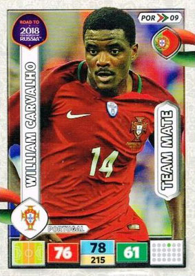 2018 - Panini Road to FIFA World Cup Russia Adrenalyn XL - N° POR09 - William CARVALHO (Portugal)