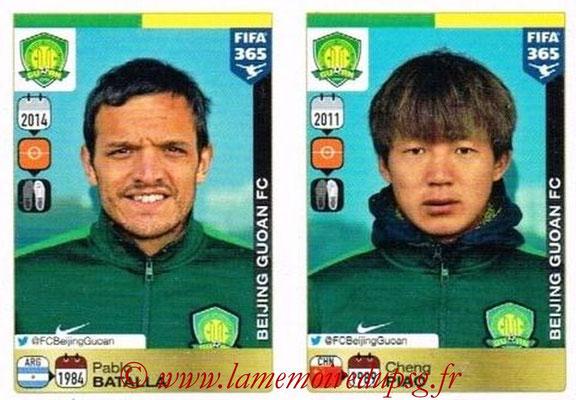 2015-16 - Panini FIFA 365 Stickers - N° 260-261 - Pablo BATALLA + Cheng PIAO (Beijing Guoan FC)
