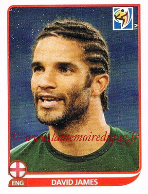 2010 - Panini FIFA World Cup South Africa Stickers - N° 184 - David JAMES (Angleterre)