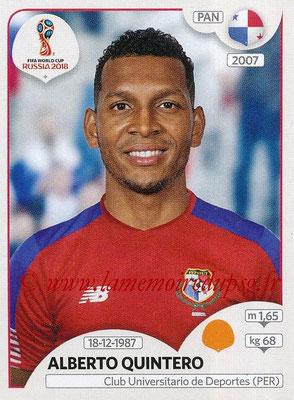 2018 - Panini FIFA World Cup Russia Stickers - N° 546 - Alberto QUINTERO (Panama)
