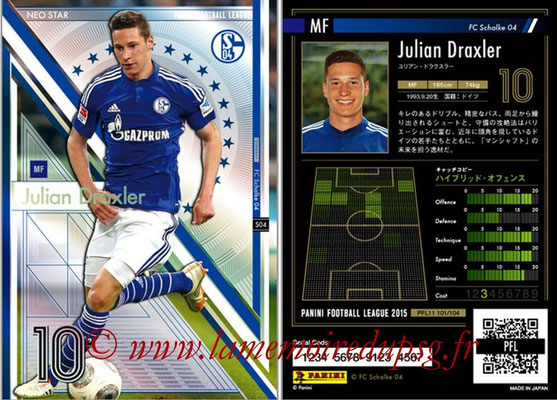 Panini Football League 2015 - PFL11 - N° 101 - Julian DRAXLER (Schalke 04) (Neo Star)