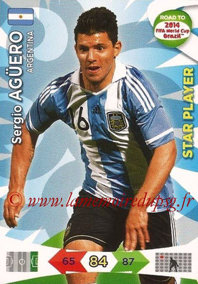 2014 - Panini Road to FIFA World Cup Brazil Adrenalyn XL - N° 008 - Sergio AGUERO (Argentine) (Star Player)
