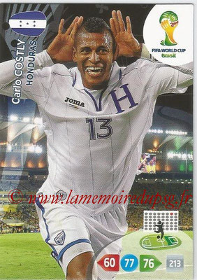 2014 - Panini FIFA World Cup Brazil Adrenalyn XL - N° 191 - Carlo COSTLY (Honduras)