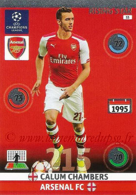 2014-15 - Adrenalyn XL champions League N° 053 - Calum CHAMBERS (Arsenal FC) (Rising Star)