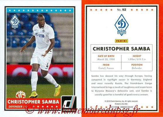 2015 - Panini Donruss Soccer - N° 092 - Christopher SAMBA (Dynamo Moscou)
