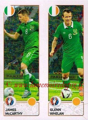 Panini Euro 2016 Stickers - N° 541 - James McCARTHY +Glenn WHELAN (République d'Irlande)