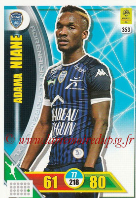2017-18 - Panini Adrenalyn XL Ligue 1 - N° 353 - Adama NIANE (Troyes)