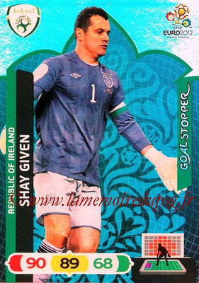 Panini Euro 2012 Cards Adrenalyn XL - N° 237 - Shay GIVEN (Eire) (Goal Stopper)