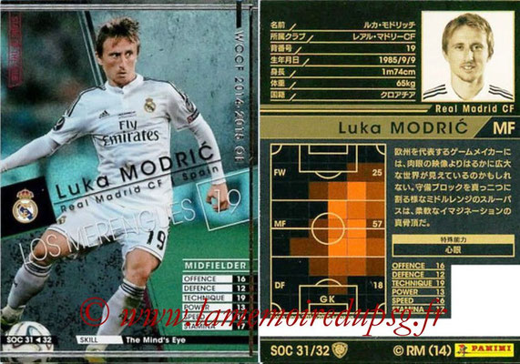2014-15 - WCCF - N° SOC31 - Luka MODRIC (Real Madrid CF) (Stars Of the Club)