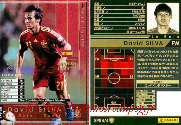 2015-16 - Panini WCCF - N° SPS4 - David SILVA (Espagne) (Spanish Superstars)