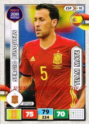 2018 - Panini Road to FIFA World Cup Russia Adrenalyn XL - N° ESP10 - Sergio BUSQUETS (Espagne)