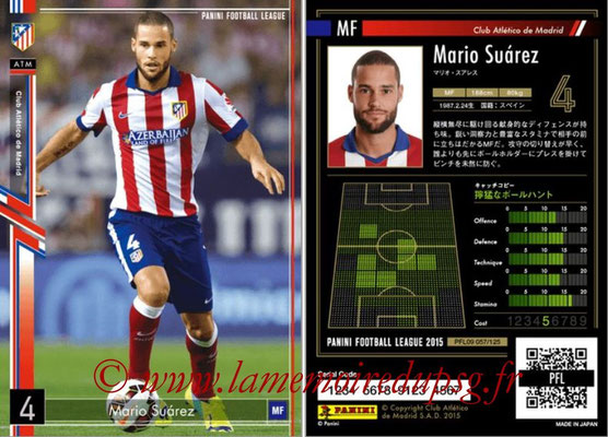 Panini Football League 2015 - PFL09 - N° 057 - Mario SUAREZ (Atletico Madrid)