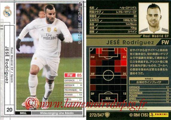 2015-16 - Panini WCCF - N° 272 - JESE (Real Madrid CF)