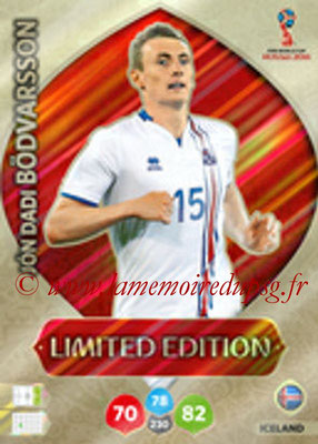 2018 - Panini FIFA World Cup Russia Adrenalyn XL - N° LE-JDB- Jon Dadi BODVARSSON (Islande) (Limited Edition)