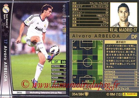 2012-13 - WCCF - N° 354 - Alvaro ARBELOA (Real Madrid CF)