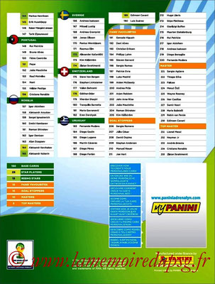 2014 - Panini Road to FIFA World Cup Brazil Adrenalyn XL - Index 2