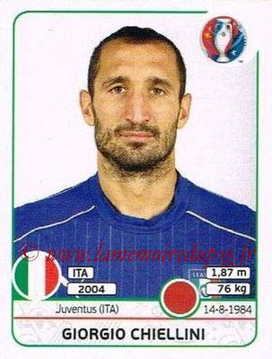 Panini Euro 2016 Stickers - N° 500 - Giorgio CHIELLINI (Italie)