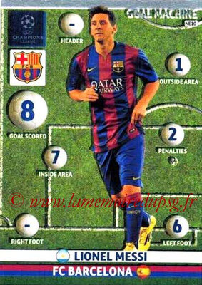 2014-15 - Adrenalyn XL champions League N° NE10 - Lionel MESSI (FC Barcelone) (Goal machine)