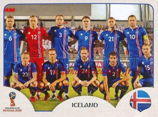 2018 - Panini FIFA World Cup Russia Stickers - N° 293 - Equipe Islande