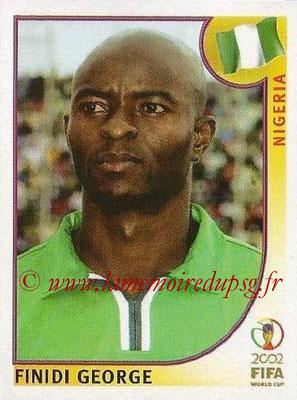 2002 - Panini FIFA World Cup Stickers - N° 416 - Finidi GEORGE (Nigéria)
