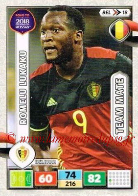 2018 - Panini Road to FIFA World Cup Russia Adrenalyn XL - N° BEL18 - Romelu LUKAKU (Belgique)