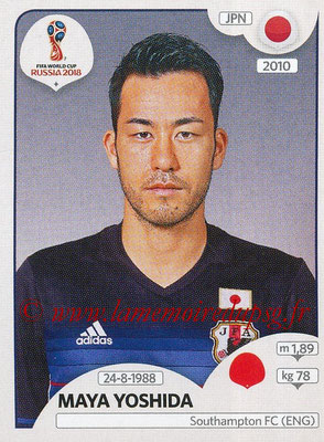 2018 - Panini FIFA World Cup Russia Stickers - N° 661 - Maya YOSHIDA (Japon)