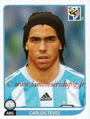 2010 - Panini FIFA World Cup South Africa Stickers - N° 124 - Carlos TEVEZ (Argentine)