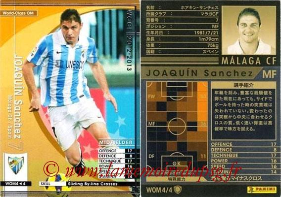 2012-13 - WCCF - N° WOM4 - JOAQUIN Sanchez (Malaga CF) (World Class OM)