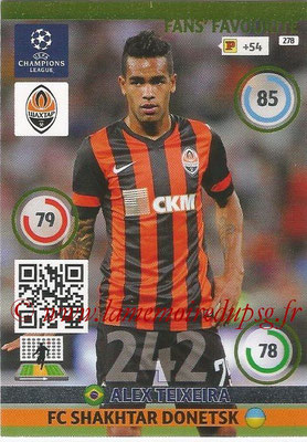 2014-15 - Adrenalyn XL champions League N° 278 - Alex TEIXEIRA (FC Shakhtar Donetsk) ( Fans' Favourite)