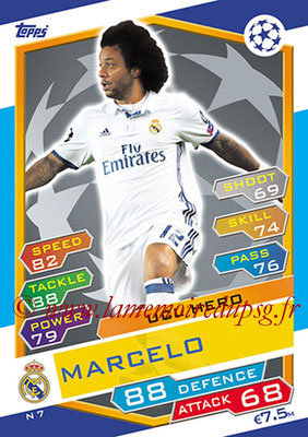 2016-17 - Topps UEFA Champions League Match Attax - N° N7 - MARCELO (Real Madrid CF) (UCL Hero) (Nordic Edition)