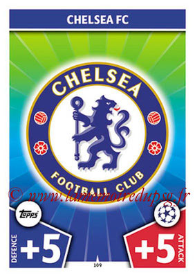 2017-18 - Topps UEFA Champions League Match Attax - N° 109 - Logo Chelsea FC (Club Badge)